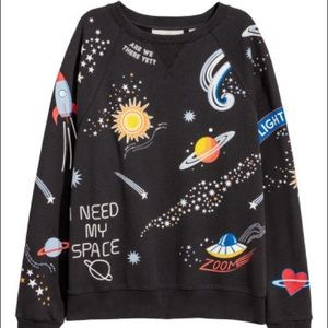 H&M Sweatshirt NASA I Need Space Outer Space